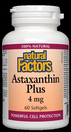 Natural Factors Astaxanthin Plus 4 mg 60 Softgels