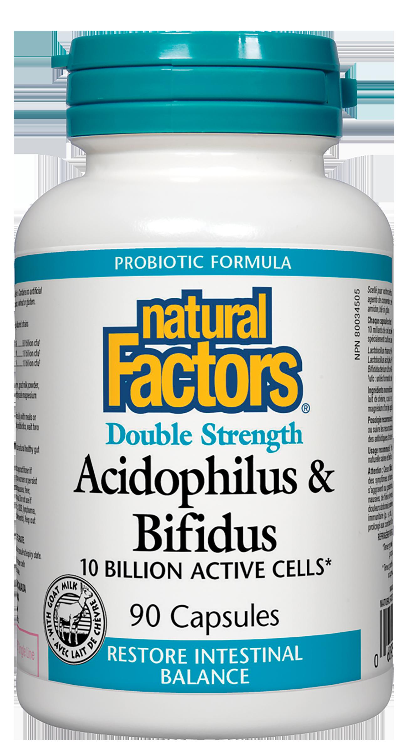 Acidophilus & Bifidus Double Strength 10 Billion Active Cells 90 Capsules