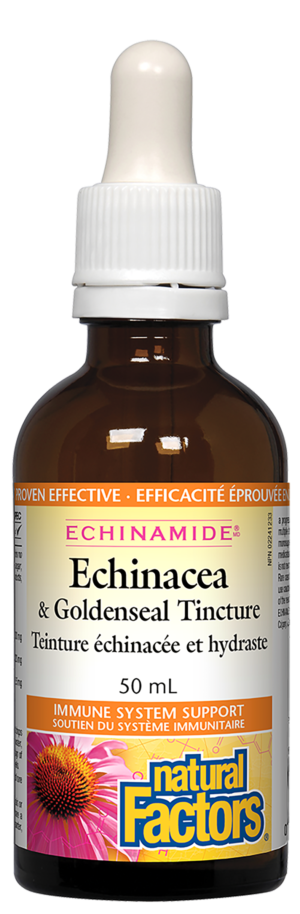 Natural Factors Echinacea & Goldenseal 50 mL Tincture