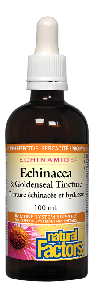 Natural Factors Echinacea & Goldenseal 100 mL Tincture